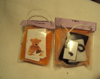 Dolls House Miniatures- 1/12th Teddy Bear Kit Brown (For Display only)