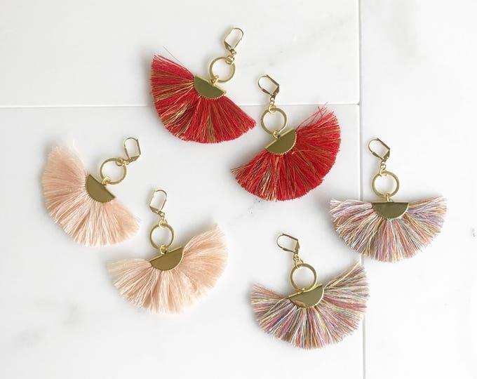 Tassel Earrings.  Chandelier Tassel Earrings. Tassel Dangle Earrings.  Statement Earrings. Jewelry. Gold Tassel Earrings.