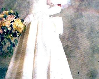 80s Brides Gown Bridal Original Wedding dress Vintage Sewing Pattern Vogue 2179 UNCUT Size 10