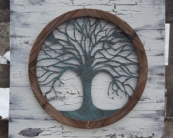 Reclaimed wood Tree of life Wall Art, Metal Wall Art, Metal Tree Wall Art, Tree of life wall Decor, Tree Wall Decor, Tree wall art