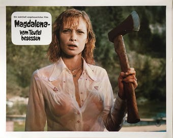 Set of 15 German lobbycards Magdalena, vom Teufel besessen Dir.  Walter Boos 1974