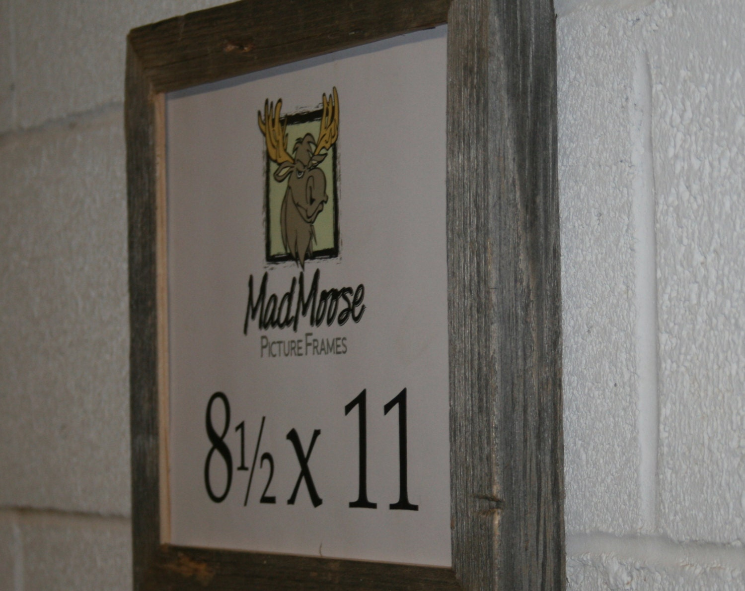 8.5x11 Barn Wood [Chunky x 1.25] Picture Frame... (Weathered Wood ...