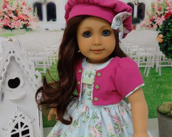 Spring Greetings - dress, jacket & beret for American Girl doll with shoes