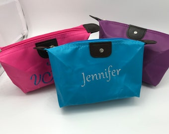 Small personalized bag for cosmetics/trinkets, Mother's Day gift, personalized trinket bag, make-up bag