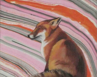 Curious Fox - Original Painting by Heather Teran