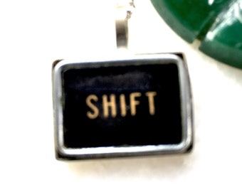 Shift typewriter key pendant