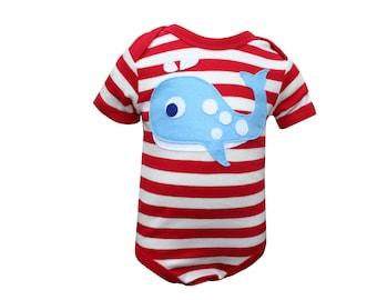 Whale Bodysuit, Baby Bodysuit, Baby Boy Bodysuit, Baby Girl Bodysuit, Baby Boy Clothes, Baby Girl Clothes, Baby Shower Gift, New Baby Gift