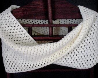 Crochet Cowl Puff Stitch Cowl Crochet Scarf Crocheted Wrap Puff Stitch Scarf  Neckwarmer Shawl CrocheteScarf Puff Stitch Wrap READY TO SHIP