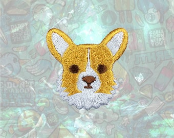 Corgi Cute Dog Patch Cartoon Patch Iron on Patch Sew On Patches