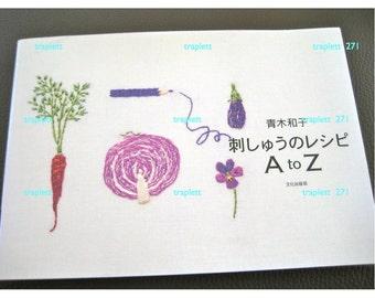 Japanese Craft Pattern Book  Embroidery Kazuko Aoki