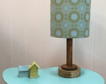 Lampshade, lamp shade, geometric lamp shade, scandi lampshade, blue lampshade, ceiling lamp shade, table lamp shade, green lamp shade