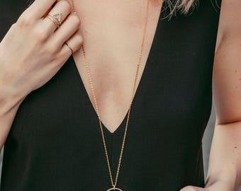 Frieda Necklace Brass