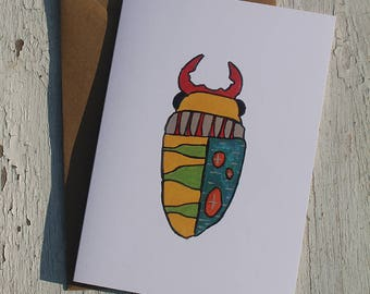 Bug No. 1 Greeting Card, Just Because, Thinking of You, Note Card, Blank Card with Envelope