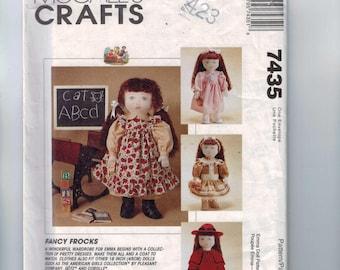 Craft Sewing Pattern McCalls 7436 Fancy Frocks Emma Wardrobe 18 Inch Victorian Doll American Girl Samantha Style UNCUT