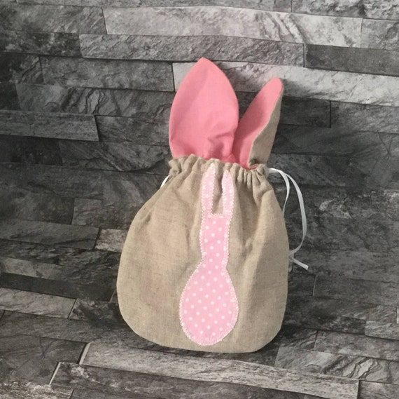 Easter gift bag easter egg hunt bag fabric gift bag easter like this item negle Images