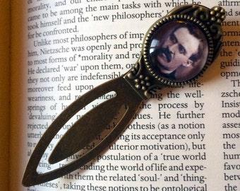 Friedrich Nietzsche Bookmark - Nietzsche Bookmark, Philosophy Gift, Postmodern Keepsake, Existentialism Gift, Nihlism Bookmark