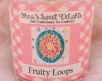 Fruity Loops Girly Confectioinery Soy Candle