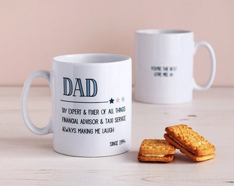 Special Personalised Dad Mug - Gift For Grandad - Personalised Father's Day Mug