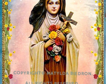 Saint Therese of Lisieux Holy Card