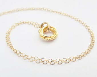 Gold Love Knot Necklace