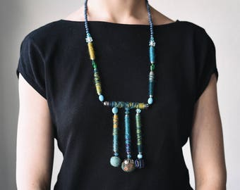 Elegant handmade neckless, unique beaded necklaces design collection
