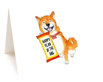 Happy Year Of The Dog Card, Happy Chinese New Year Dog Card Happy Lunar New Year Card 2018 Year Of Dog Card Chinese Astrolog Chinese Zodiac