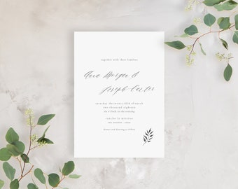Wedding Invitation Sample - The Morgan Suite