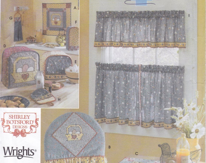FREE US SHIP 5820 Sewing Pattern Quilters Country Window Treatment Chair pad Slip Cover Appliance Covers Towel Quilt Factory Folded