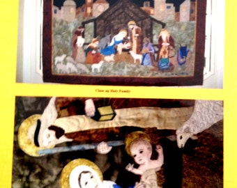 NATIVITY Baby Jesus wall quilt applique and pieced-Seams Like Home/Joan Jones