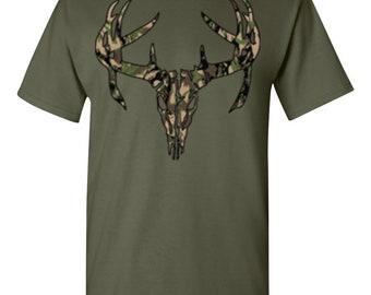 Deer Skull Camo-Military Green