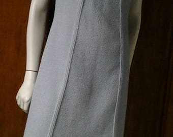 Sleeveless dress from late 50s early 60s/Vintage/wool tweed