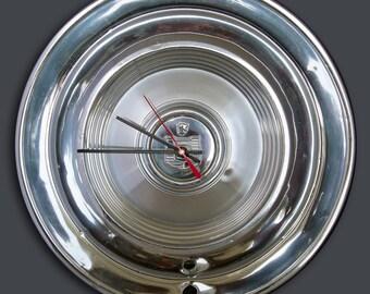 1960 Mercury Hubcap Clock - Classic Car Clock