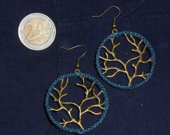 """Macramee Earrings """"Tree"""""""