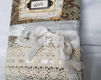 Love soft fabric cover journal