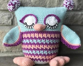 Sleepy Owl Plush (Made To Order)
