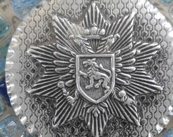 Vintage Large Aluminum Lion Medallion/ Pendant