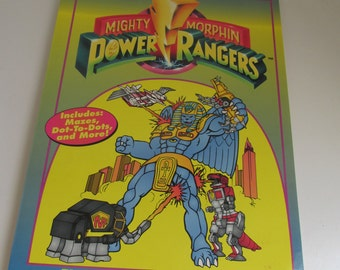 90s Power Rangers Activity Books 1994 Red Power Rangers The Mighty Morphins Power Rangers Color Books Vintage Power rangers Birthday Party