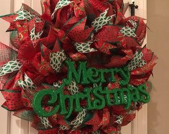 Merry Christmas 26 inch wreath