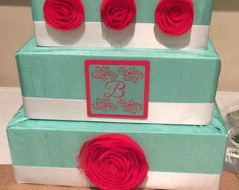 Rose Wedding Card Box