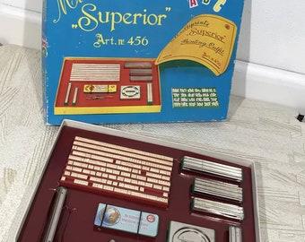 Vintage Multiprints Superior Art No. 456 Rubber Stamp Kit