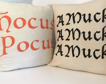 Halloween Choice of AMuck and Hocus pocus Pillow Covers