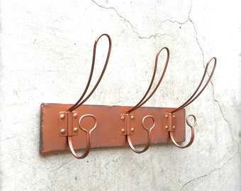 Copper Coat Rack, Coat Hooks, Wall Hook Rack, Wall Hooks, Copper Wall Hook, Vintage Coat Hook, Vintage Wall Hooks, Copper Decor, Wall Hooks
