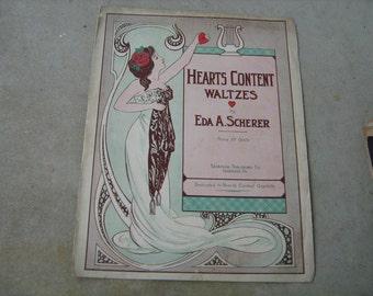 1907 sheet music (   hearts content waltzes  )