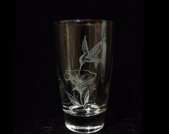 Hummingbird Dinner Glass
