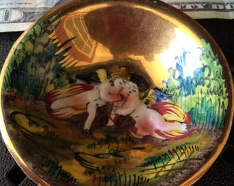 Two Small Hand Painted Capodimonte plates