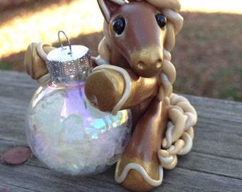 "Made to order KushlansCreations ""Ginger"" Standard handmade polymer clay Christmas Ornament"