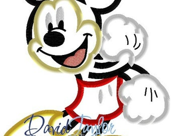 Mickey Mouse - Embroidery Machine Design - Applique - Instant Download - David Taylor Digitizing