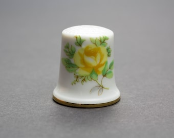 Thimble, porcelain, Rose