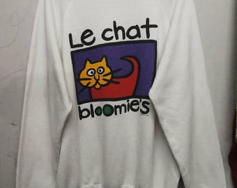vintage 80s Le Chat bloomie's sweatshirt L