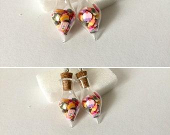 Fancy cake polymer clay earrings